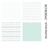 hand drawn seamless patterns ... | Shutterstock .eps vector #290838158
