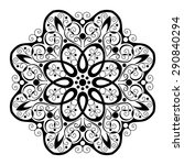 beautiful deco black mandala ... | Shutterstock . vector #290840294