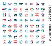 unusual icons set   isolated on ... | Shutterstock .eps vector #290848094