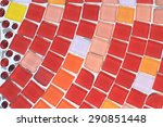 Colorful Tile Background With...