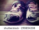 old tennis or athletic running... | Shutterstock . vector #290854208