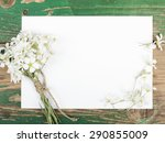 Flowers On Vintage Wooden...