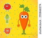 cute cartoon carrot character... | Shutterstock .eps vector #290868374