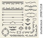 vintage elements set | Shutterstock .eps vector #290871218