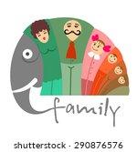 illustration of happy family... | Shutterstock .eps vector #290876576