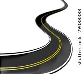 vector road   Shutterstock .eps vector #29088388