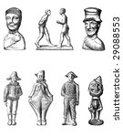 vintage chocolate mold sketches | Shutterstock . vector #29088553