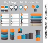 big set of infographic banner... | Shutterstock . vector #290888894