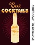 typographic retro grunge beer... | Shutterstock .eps vector #290893889