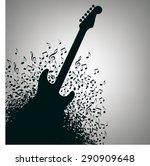 guitar music concert poster...
