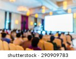 abstract blurred people in... | Shutterstock . vector #290909783