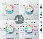 set of 4 modern infographics... | Shutterstock .eps vector #290910050