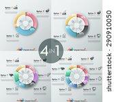 set of 4 modern infographics... | Shutterstock .eps vector #290910050