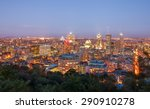 beautiful view of montreal... | Shutterstock . vector #290910278