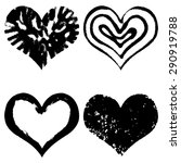 hand drawn sketch hearts for... | Shutterstock .eps vector #290919788