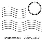 set of postal stamps and... | Shutterstock .eps vector #290923319