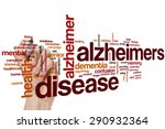 Small photo of Alzheimers disease word cloud concept