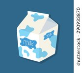 spotted plain flavored milk... | Shutterstock .eps vector #290933870
