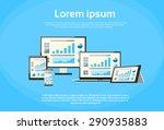 responsive design financial... | Shutterstock .eps vector #290935883