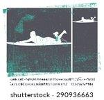 stencil vintage surf frame | Shutterstock .eps vector #290936663