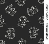 bear doodle seamless pattern... | Shutterstock .eps vector #290937350
