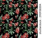 beautiful  floral seamless... | Shutterstock .eps vector #290938304