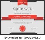 vector certificate template. | Shutterstock .eps vector #290939660