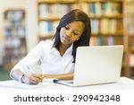 pretty female college student... | Shutterstock . vector #290942348