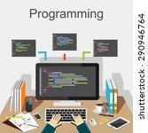 programming illustration....   Shutterstock .eps vector #290946764