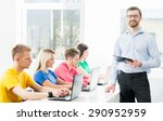 students at the informatics and ... | Shutterstock . vector #290952959