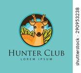 deer illustration  deer hunting ... | Shutterstock .eps vector #290953238