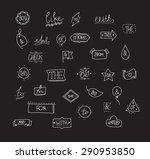 vector hand drawn ampersands... | Shutterstock .eps vector #290953850