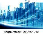 3d render of urban city   | Shutterstock . vector #290954840