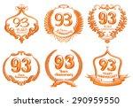 93 years anniversary emblems...   Shutterstock . vector #290959550