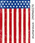 american retro grunge flag. an... | Shutterstock .eps vector #290960270