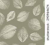 seamless pattern with leaves... | Shutterstock .eps vector #290964674