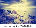 vintage photo of baltic sea...   Shutterstock . vector #290989886