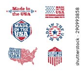 Vintage In The Usa Labels With...