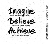 conceptual handwritten phrase... | Shutterstock .eps vector #290994434