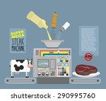 super mega steak machine.... | Shutterstock .eps vector #290995760