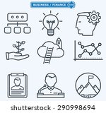 line icons  business people in... | Shutterstock .eps vector #290998694