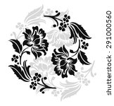 flower design sketch for... | Shutterstock .eps vector #291000560