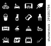 vector white car wash icon set.  | Shutterstock .eps vector #291001754