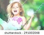 child  playing  playground. | Shutterstock . vector #291002048