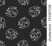 bull monster doodle seamless... | Shutterstock .eps vector #291007238
