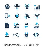 connectivity icons    azure... | Shutterstock .eps vector #291014144