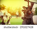 closeup of golf club in bag on... | Shutterstock . vector #291027428