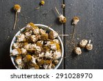 dried chamomile flowers  herbal ... | Shutterstock . vector #291028970