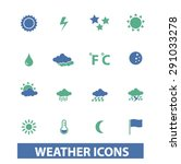 weather  climate isolated icons ...