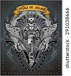 vintage motorcycle label | Shutterstock .eps vector #291038666
